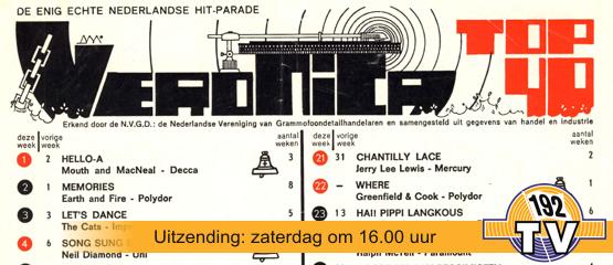 192TV: De Top 40 van 3 juni 1972