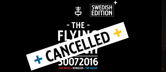 Zweedse Flying Dutch-editie gaat niet door