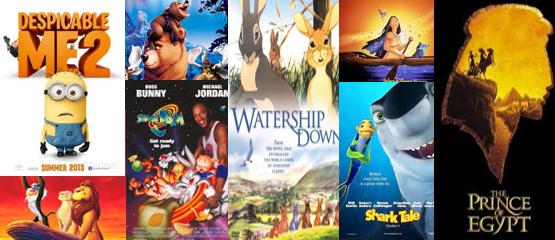 De 10 grootste hits uit animatiefilms
