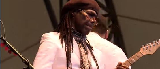Nile Rodgers met Black Eyed Peas aan de slag