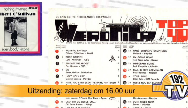 192TV: De Top 40 van 20 februari 1971