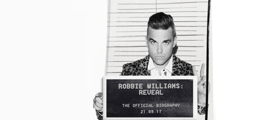 Nieuwe biografie van Robbie Williams