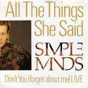 Details Simple Minds - All The Things She Said