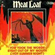 Coverafbeelding Meat Loaf - You Took The Words Right Out Of My Mouth (Hot Summer Night)