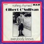 Details Gilbert O'Sullivan - Nothing Rhymed