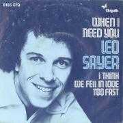 Details Leo Sayer - When I Need You