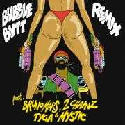 Coverafbeelding major lazer feat. bruno mars, 2 chainz & tyga & mystic - bubble butt - remix