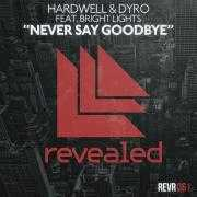 Coverafbeelding hardwell & dyro feat. bright lights - never say goodbye