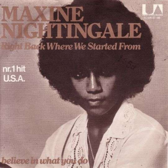 Coverafbeelding Maxine Nightingale - Right Back Where We Started From
