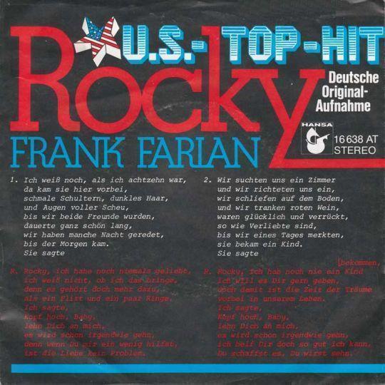 Coverafbeelding Frank Farian - Rocky