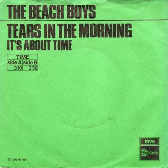 Coverafbeelding Tears In The Morning - The Beach Boys