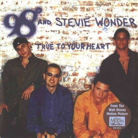 Coverafbeelding 98° and Stevie Wonder - True To Your Heart