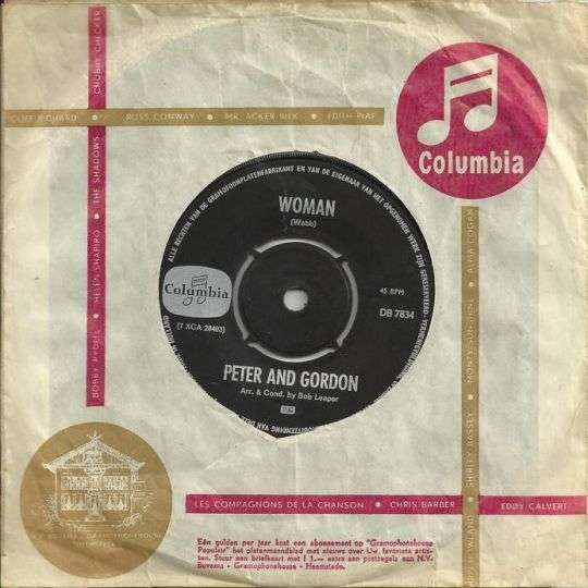 Coverafbeelding Woman - Peter And Gordon
