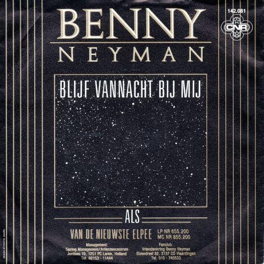 Coverafbeelding Blijf Vannacht Bij Mij - Benny Neyman
