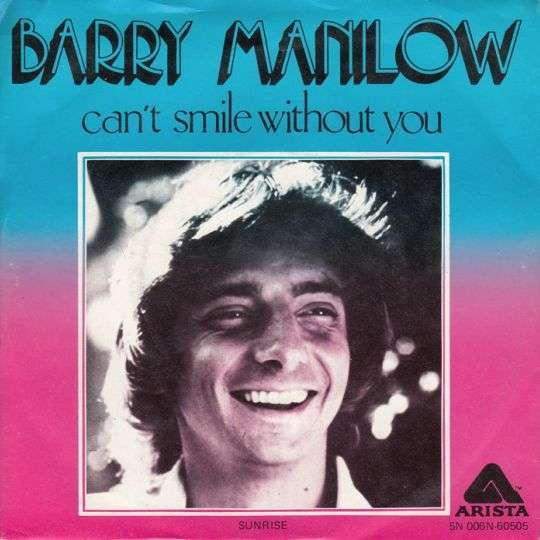 Coverafbeelding Can't Smile Without You - Barry Manilow