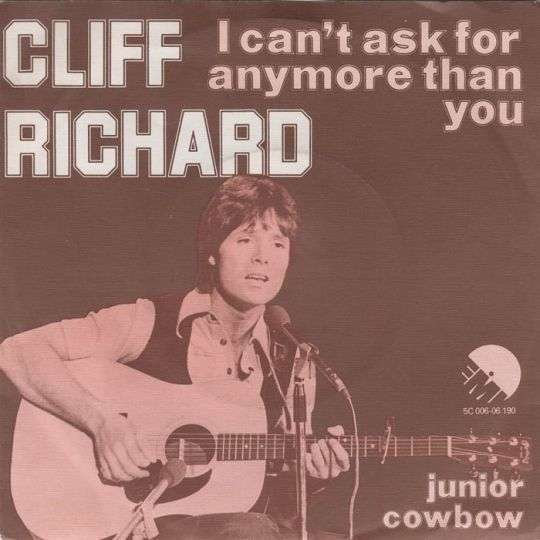 Coverafbeelding I Can't Ask For Anymore Than You - Cliff Richard