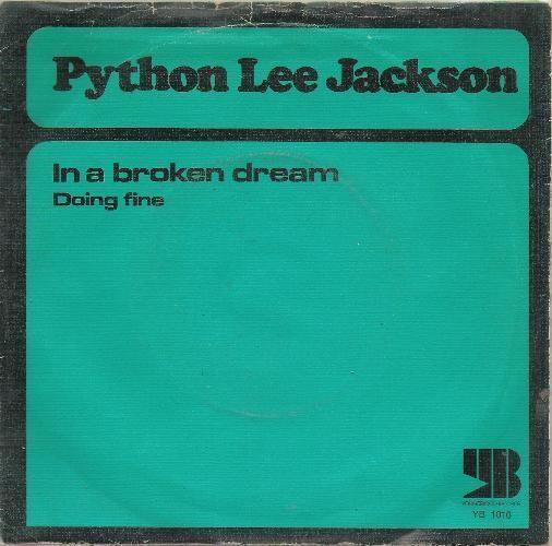 Coverafbeelding Python Lee Jackson - In A Broken Dream