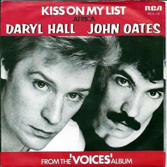 Coverafbeelding Kiss On My List - Daryl Hall & John Oates