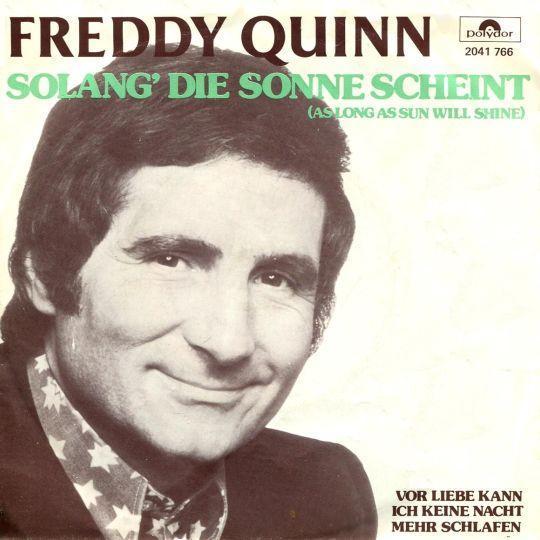 Coverafbeelding Solang' Die Sonne Scheint (As Long As Sun Will Shine) - Freddy Quinn