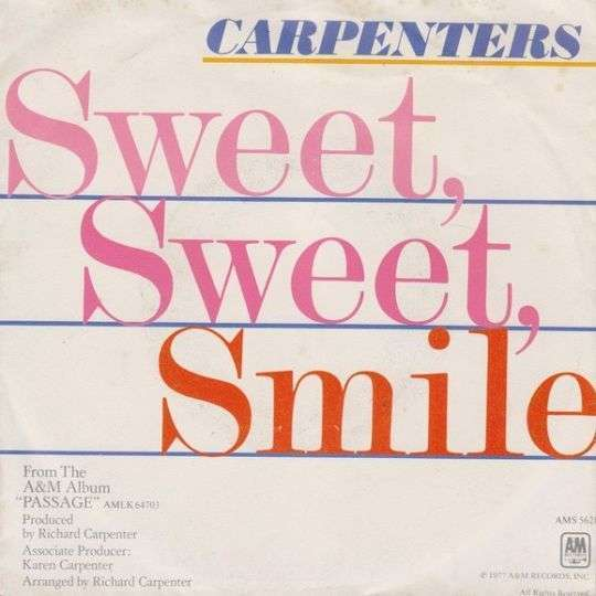 Coverafbeelding Carpenters - Sweet, Sweet, Smile
