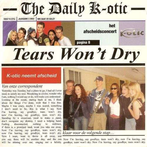 Coverafbeelding Tears Won't Dry - K-Otic