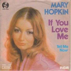 Coverafbeelding If You Love Me - Mary Hopkin