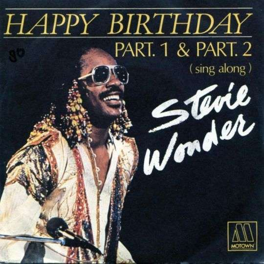 Coverafbeelding Happy Birthday - Stevie Wonder