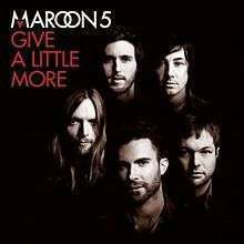 Coverafbeelding Maroon 5 - Give a little more