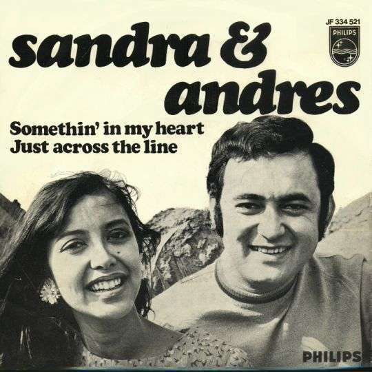 Coverafbeelding Sandra & Andres - Somethin' In My Heart/ Just Across The Line