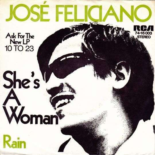 Coverafbeelding She's A Woman/ Rain - José Feliciano