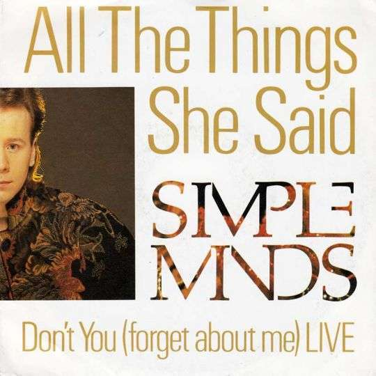 Coverafbeelding All The Things She Said - Simple Minds