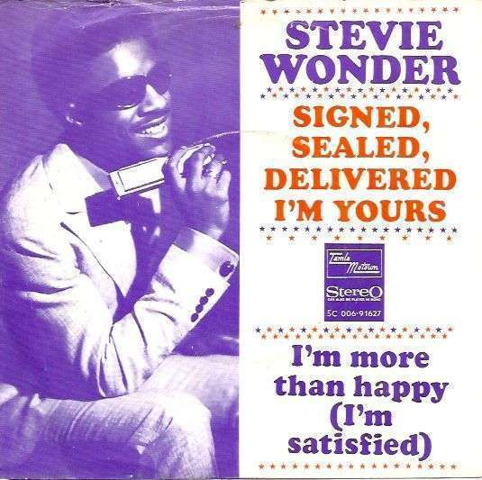 Coverafbeelding Signed, Sealed, Delivered I'm Yours - Stevie Wonder