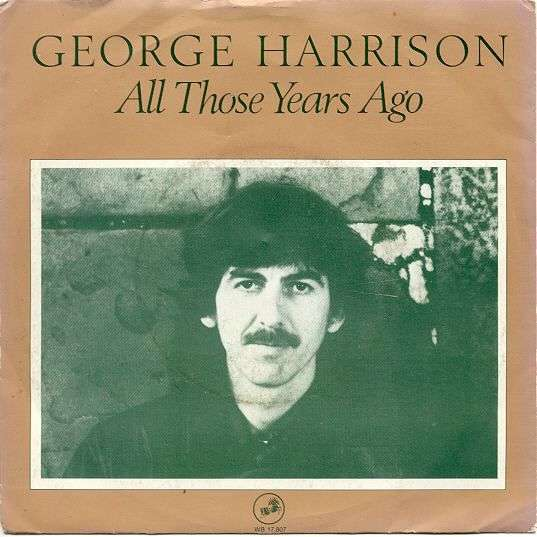 Coverafbeelding All Those Years Ago - George Harrison