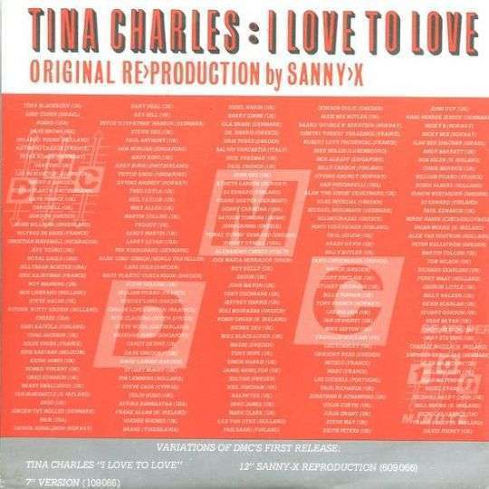 Coverafbeelding I Love To Love - Original Re-production By Sanny-x - Tina Charles