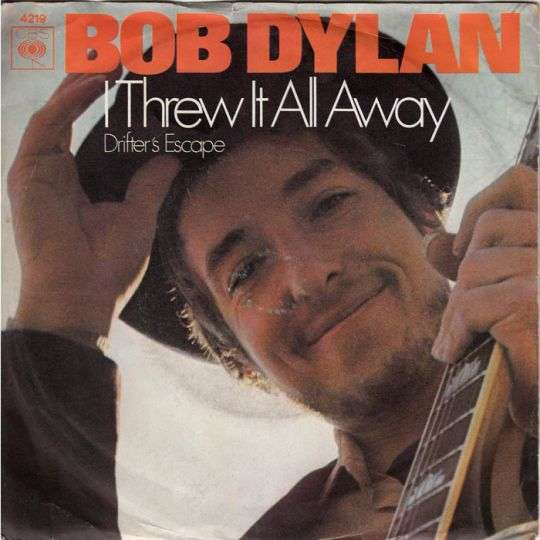 Coverafbeelding Bob Dylan - I Threw It All Away