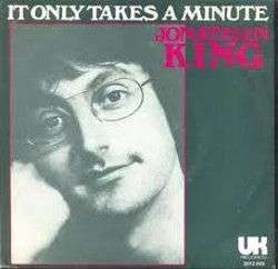 Coverafbeelding It Only Takes A Minute - Jonathan King