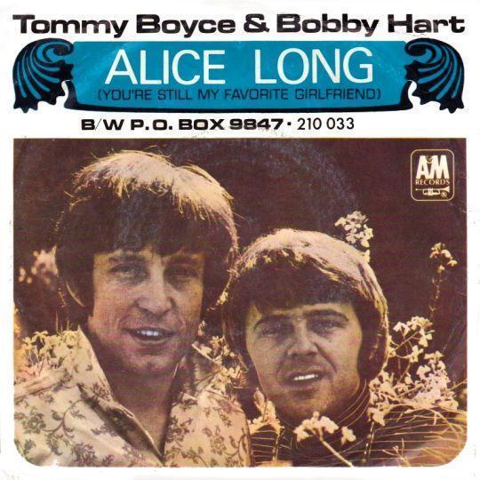 Coverafbeelding Tommy Boyce & Bobby Hart - Alice Long (You're Still My Favorite Girlfriend)