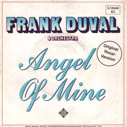 Coverafbeelding Frank Duval & Orchestra - Angel Of Mine