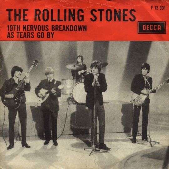 Coverafbeelding 19th Nervous Breakdown/ As Tears Go By - The Rolling Stones