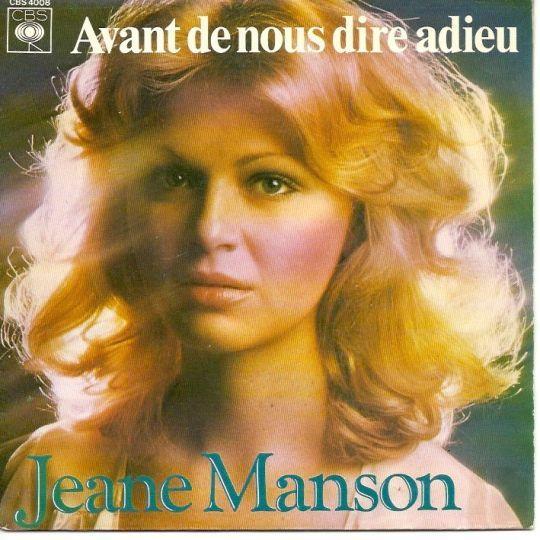 Coverafbeelding Jeane Manson - Avant De Nous Dire Adieu