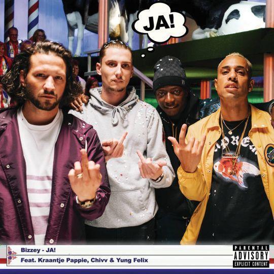 Coverafbeelding Ja! - Bizzey Feat. Kraantje Pappie, Chivv & Yung Felix