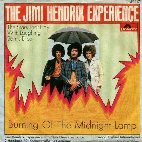 Coverafbeelding Burning Of The Midnight Lamp - The Jimi Hendrix Experience