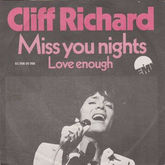Coverafbeelding Miss You Nights - Cliff Richard