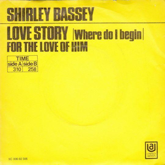 Coverafbeelding Love Story (Where Do I Begin) - Shirley Bassey