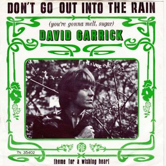 Coverafbeelding Don't Go Out Into The Rain (You're Gonna Melt, Sugar) - David Garrick