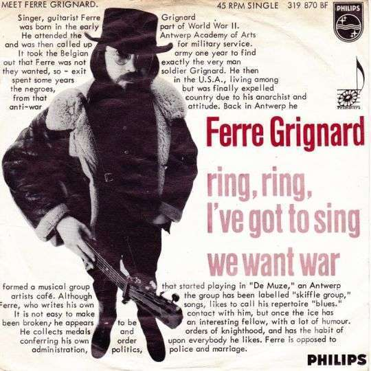 Coverafbeelding Ring, Ring, I've Got To Sing - Ferre Grignard