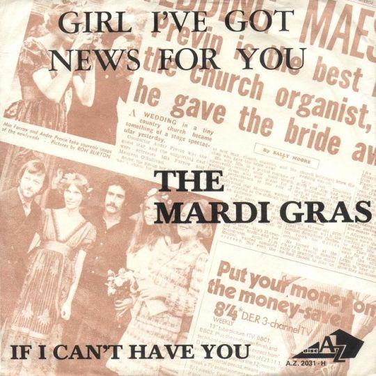 Coverafbeelding Girl I've Got News For You - The Mardi Gras