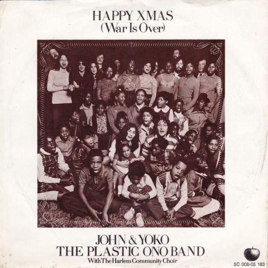 Coverafbeelding Happy Xmas (War Is Over) ((1972)) / Happy X-Mas (War Is Over) ((1980)) - John & Yoko & The Plastic Ono Band With The Harlem Community Choir / John Lennon & Yoko Ono And The Plastic Ono Band (With The Harlem Community Choir)