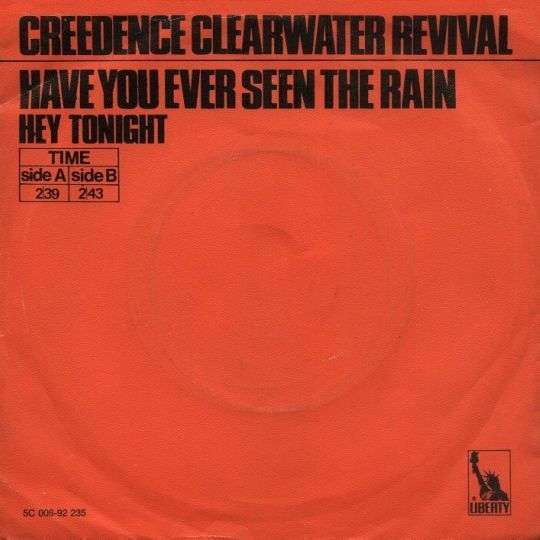 Coverafbeelding Have You Ever Seen The Rain/ Hey Tonight - Creedence Clearwater Revival