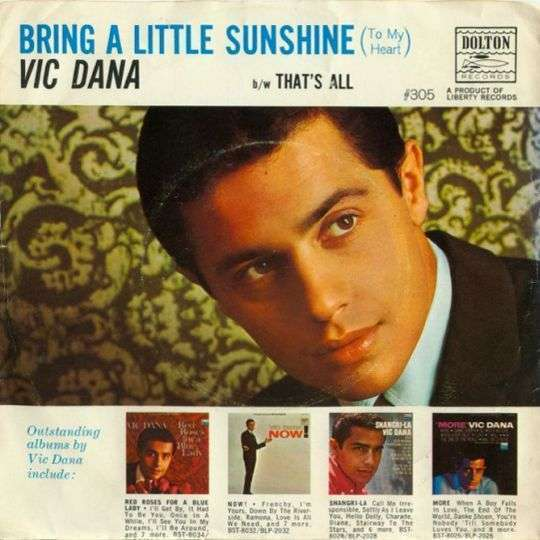 Coverafbeelding Bring A Little Sunshine (To My Heart) - Vic Dana